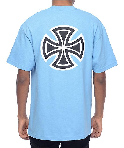 Independent Bar Cross Carolina Blue T-Shirt