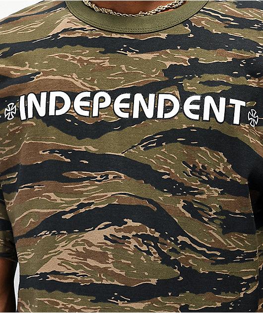 Independent Bar Cross Tiger Camo T-Shirt