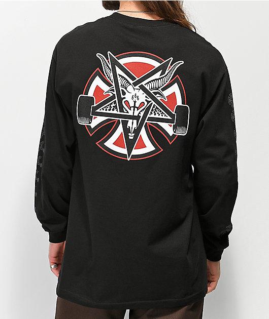 Independent x Thrasher Pentagram Black Long Sleeve T-Shirt