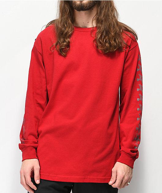 Independent x Thrasher Pentagram Red Long Sleeve T-Shirt