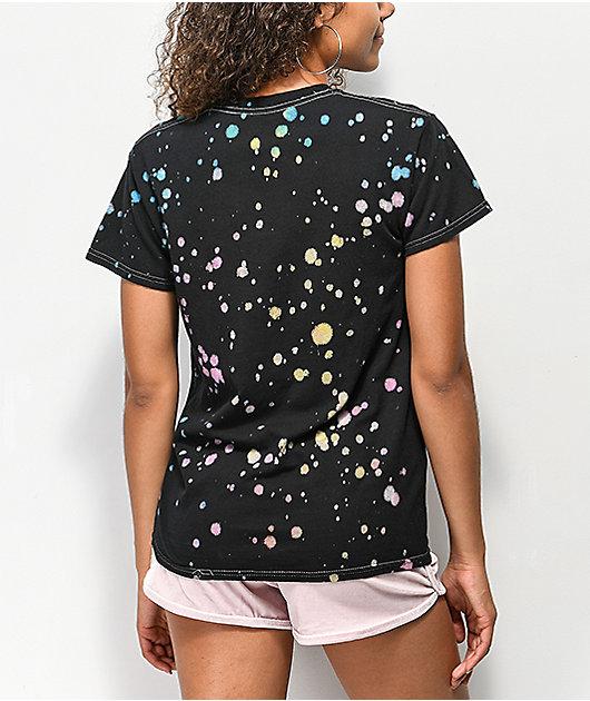 JV By Jac Vanek Take Me Home Black Tie Dye T-Shirt