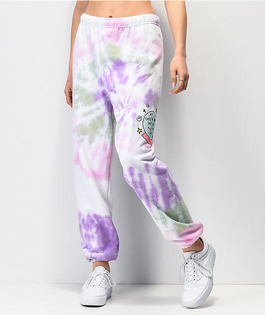 JV by Jac Vanek Crystal Ball Tie Dye Sweatpants
