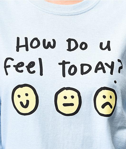 JV by Jac Vanek How Do You Feel Blue Long Sleeve T-Shirt