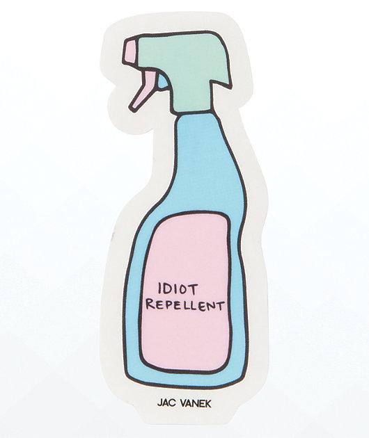 JV by Jac Vanek Idiot Repellent Sticker