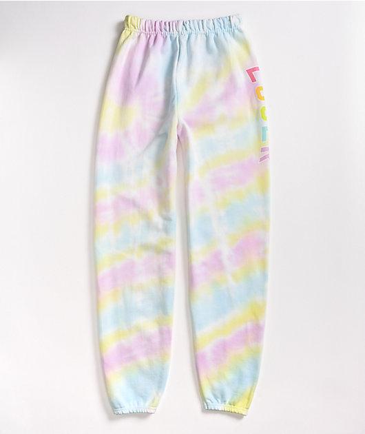 JV by Jac Vanek Loser Purple, Yellow, & Blue Tie Dye Sweatpants