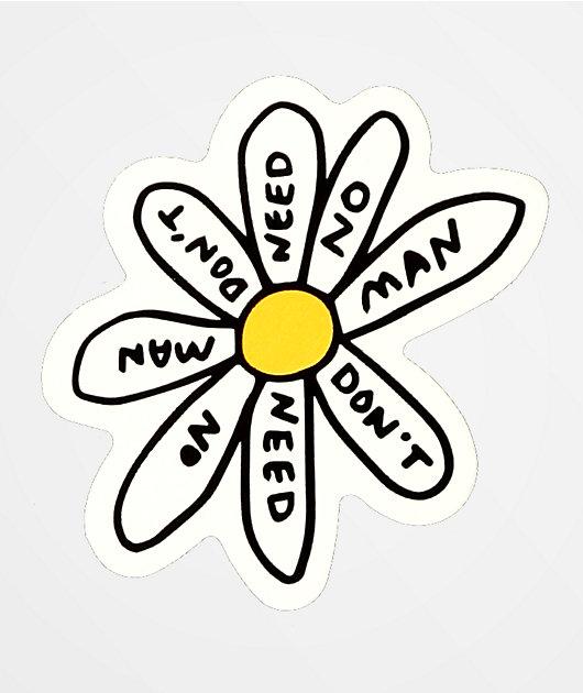 JV by Jac Vanek Need No Man Sticker