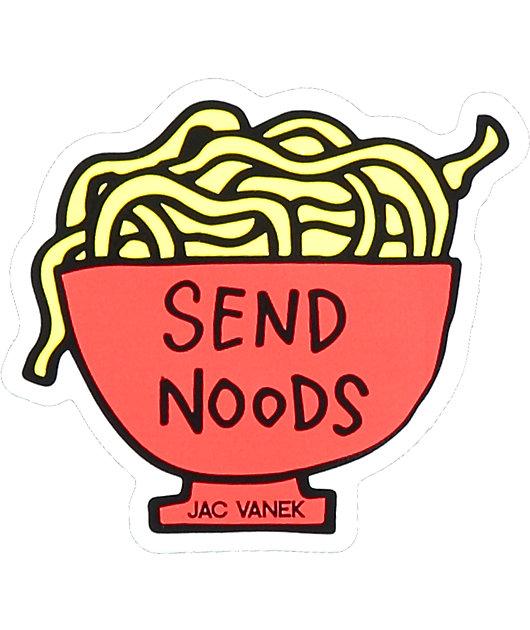 JV by Jac Vanek Send Noods Sticker