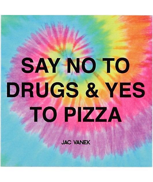 JV by Jac Vanek Yes To Pizza pegatina con efecto tie dye