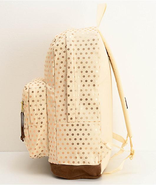 JanSport Right Pack Expressions mochila de lunares dorados