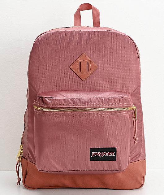 JanSport Super FX Mocha & Gold Backpack