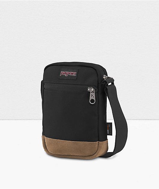 JanSport Weekender Black & Tan Shoulder Bag