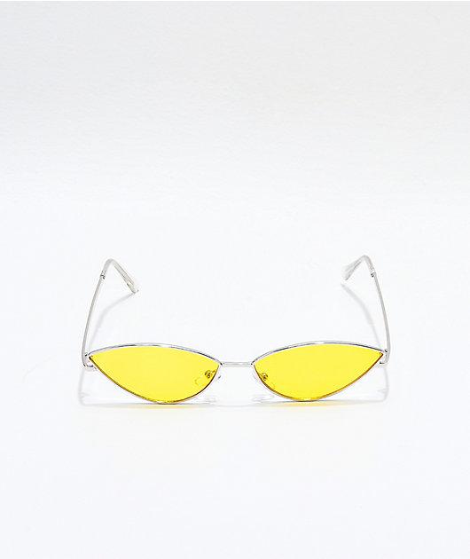 Jenna Silver & Yellow Sunglasses