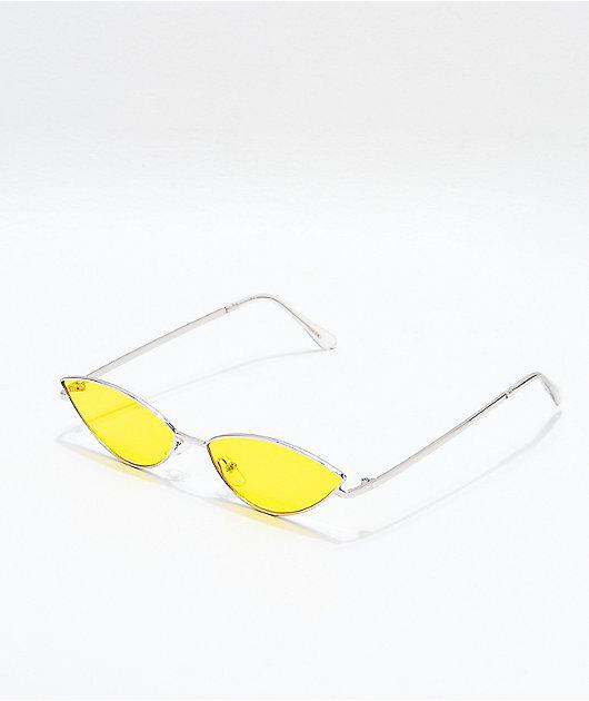 Jenna gafas de sol amarillas y plateadas