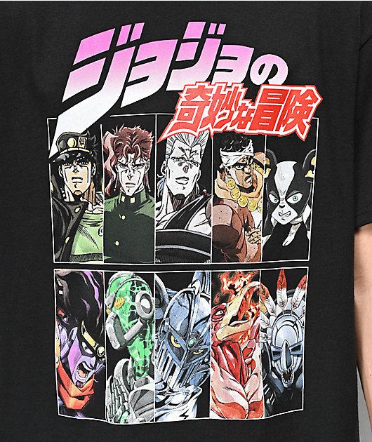 Jojos Bizarre Squad Black T-Shirt