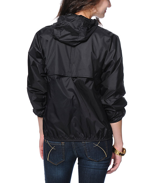 K-Way Noel Klassic Black Pullover Windbreaker Jacket