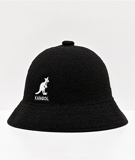 Kangol Big Logo Black Bucket Hat