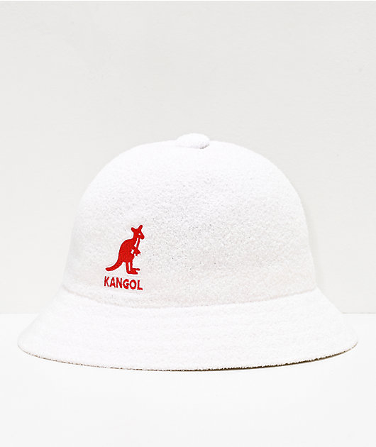 Kangol Big Logo White Bucket Hat