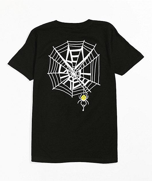 Key Street Boys Smile Spider Black T-Shirt