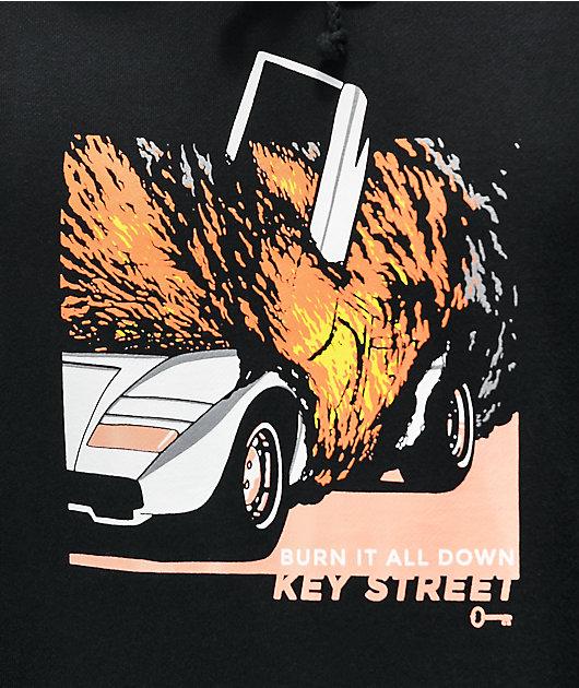Key Street Burn It Down Black Hoodie