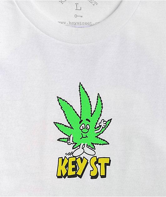 Key Street Just A Leaf White T-Shirt