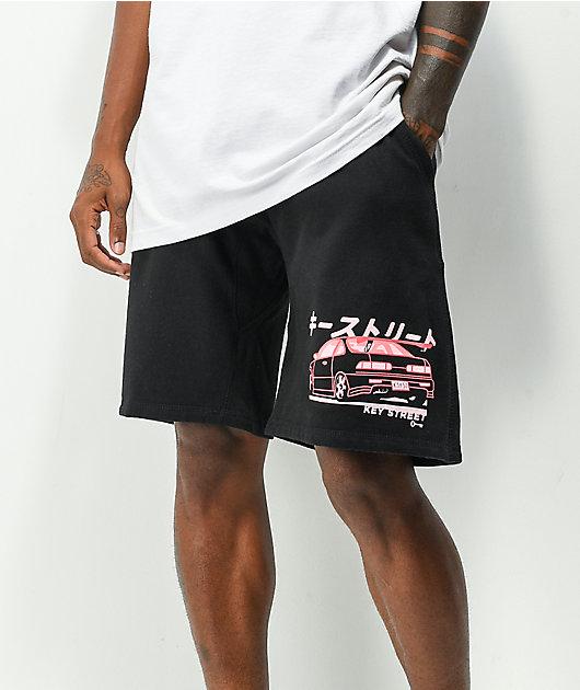 Key Street Moto Ichiban Black Sweat Shorts