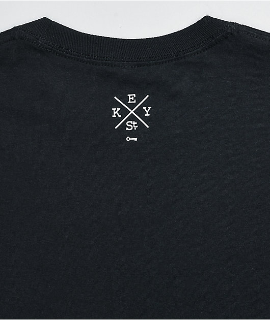 Key Street Saiko Black Long Sleeve T-Shirt
