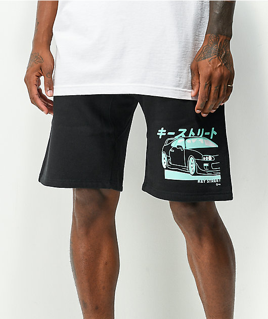 Key Street Saiko Black Sweat Shorts