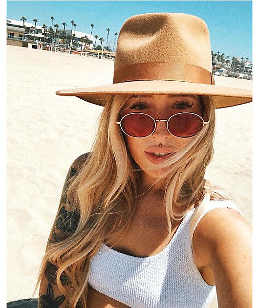 Kid Red Round Sunglasses