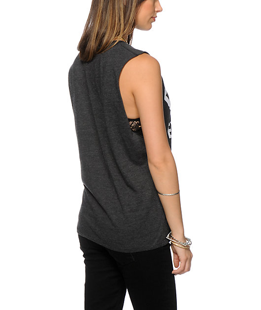 Kill Brand Fuck Everything Charcoal Muscle Tank Top