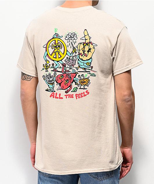 Killer Acid All The Feels camiseta blanquecina