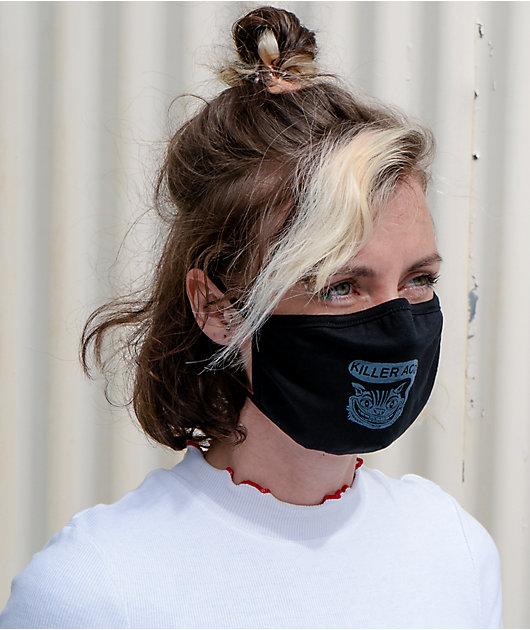 Killer Acid Cat Black Face Mask
