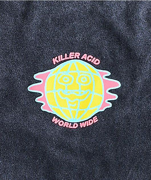 Killer Acid Dose The World Charcoal T-Shirt