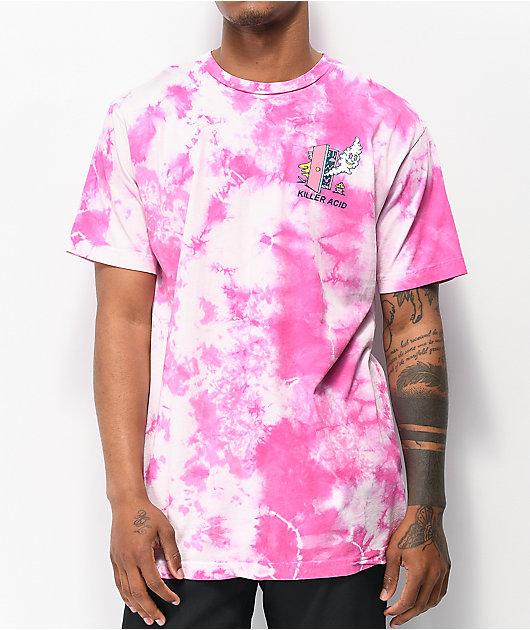 Killer Acid In The Clouds Taffy Pink Tie Dye T-Shirt