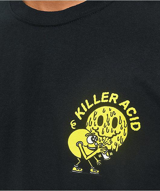 Killer Acid Miles Of Smiles Black T-Shirt