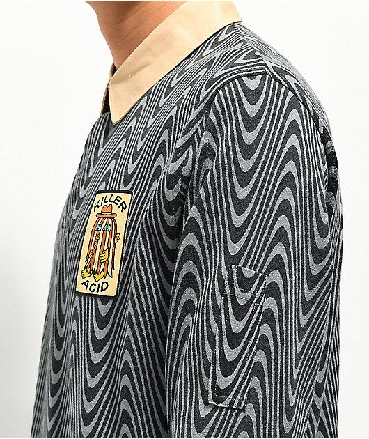 Killer Acid Wavy Rugby Long Sleeve Shirt