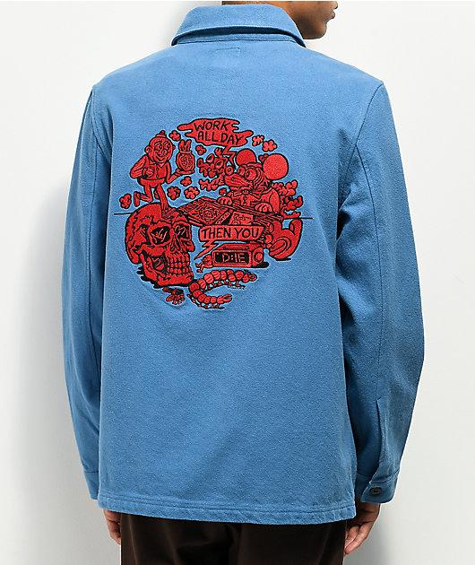 Killer Acid Work All Day Blue Chore Jacket