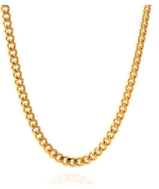 "King Ice 5mm 14K Gold 26"" Cuban Chain"