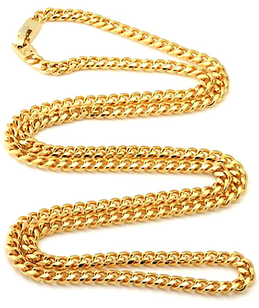 "King Ice 5mm 14K Gold Cuban Curb 30"" Chain"