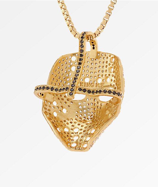 King Ice Hockey Mask collar dorado