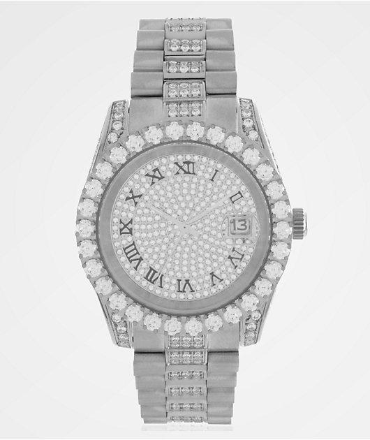 King Ice LX reloj analógico de oro blanco