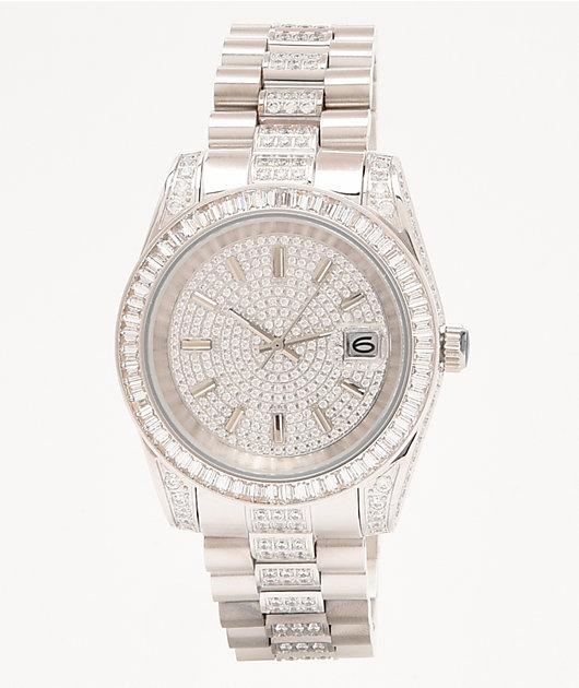 King Ice The Royal reloj analógico de oro blanco