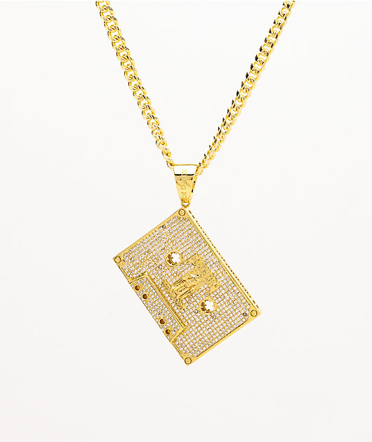 King Ice x Death Row Records Cassette Tape Gold Chain Necklace