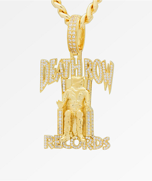 King Ice x Death Row Records Iced Pendant Necklace