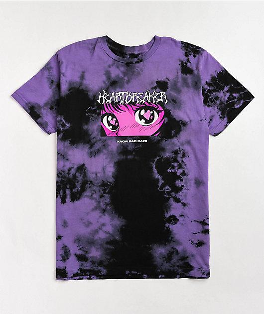 Know Bad Daze Heartbreaker Purple Tie Dye T-Shirt