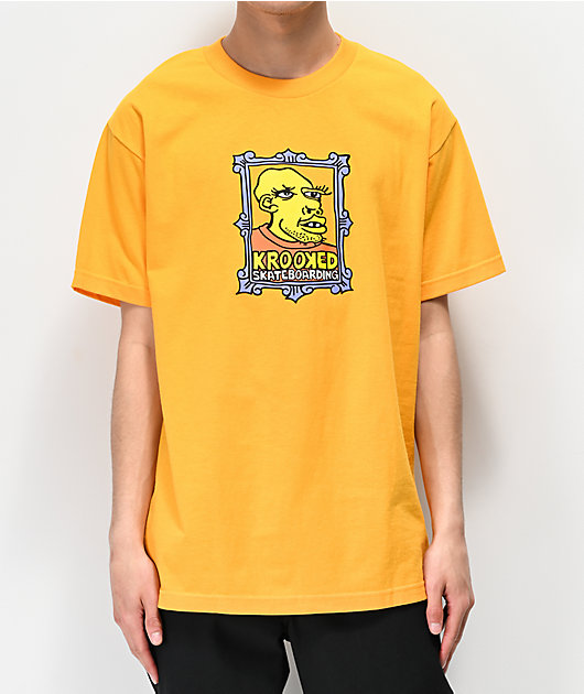 Krooked Frame Face Gold T-Shirt