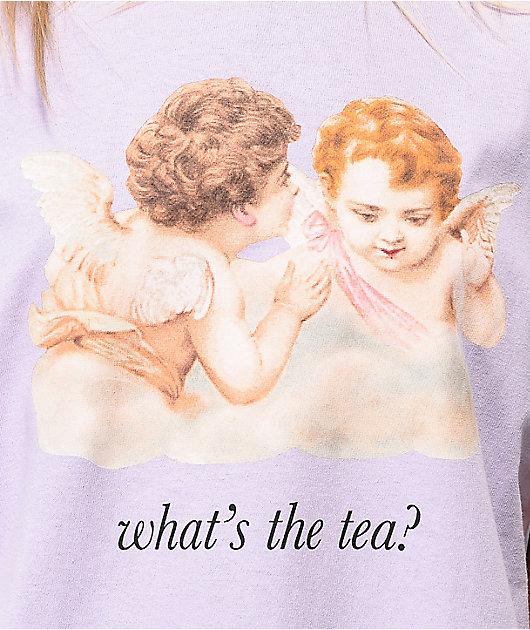 LOL Cartel What's The Tea camiseta lavanda