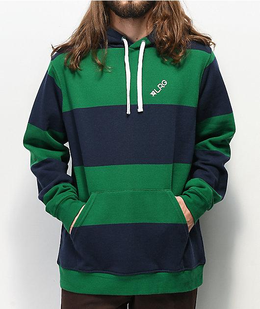 LRG Game Time sudadera con capucha verde y azul