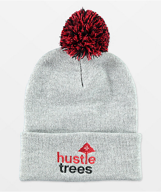 LRG Hustle Trees Grey Pom Beanie