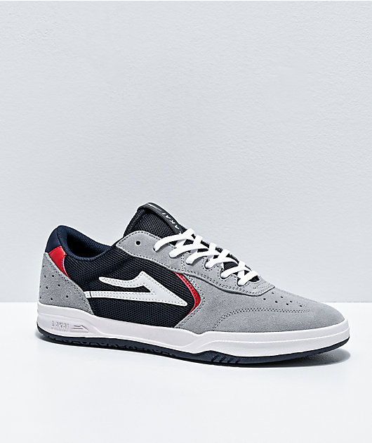 Lakai Atlantic zapatos de skate de ante gris y azul marino