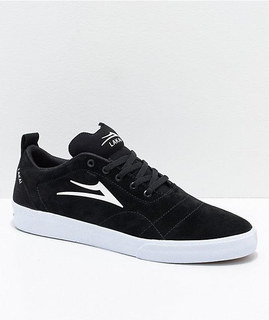 Lakai Bristol Black \u0026 White Suede Skate